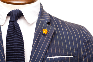 J and HP Lapel Flower Mini Orange Knit