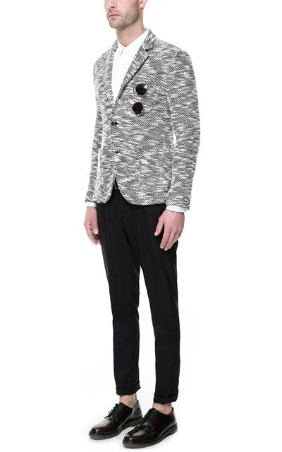 Zara Two Tone Knit Blazer
